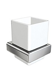 Bathroom Single Tumble Holder Toothbrush Holder Chrome Finsh zinc