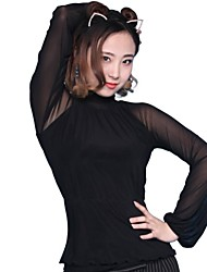 Ballroom Dance Tops Women's Performance / Training Spandex Latin Dance / Modern Dance / Ballroom Dance Spring, Fall, Winter, Summer