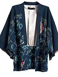 Women's Printed Cardigan Kimono Outerwear