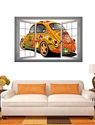 3d Stickers muraux stickers muraux, bande dessinée voiture décoration vinyle stickers muraux