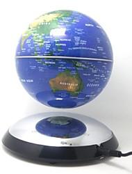 "6"" Rotating Magnetic Levitation Floating Blue Globe Map with Roundness Base"