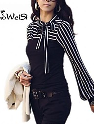 NUO WEI SI ® Women's Stand Collar Long Sleeves T-shirt