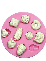 Kitty's Mini Cake Decorating Cupcake Silicone Mould For Crafts Jewelry Chocolate Fondant PMC Resin Clay
