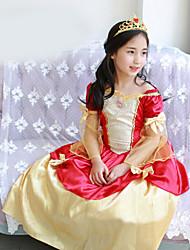 Vestido Chica deUn Color-Mezcla de Algodón-Verano