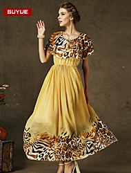 vestido maxi de la manera clásica delgada suyue® alta calidad sexty de las mujeres galas