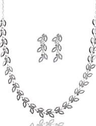 Жен. Ожерелья-бархатки В форме листа Искусственный бриллиант Сплав Базовый дизайн Бижутерия НазначениеСвадьба Для вечеринок День рождения