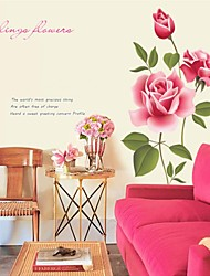 Wall Stickers Wall Decals, Style The Rose Garden PVC Wall Stickers