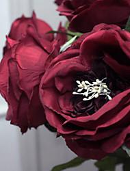 "30 ""l romantischen Rosenseidentuch Blumen kermesinus"