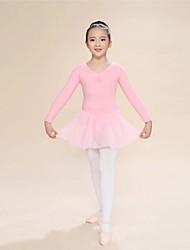 Ballet Unitards Women's/Children's Training Silk 1 Piece Pink Kids Dance Costumes