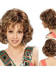 Popular Top Quality Fashion Middle Long Curly Wig Woman's Synthetic Wigs Hair