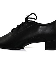 Latin Kids' Heels Cuban Heel Lace-ups Dance Shoes