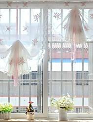 "un panel de 32 ""wx69"" l (82cmwx174cml) floral / bordado / botánica poli / puro lino"