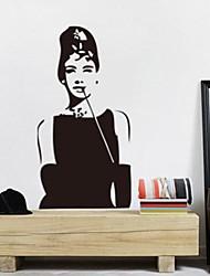 amovible chambre romantique audrey hepburn / salon sticker mural