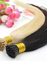 """100pcs 12""""-26"""" I Tip Hair Extensions Human 100g Keratin Tip Remy Human Hair Extensions 1g/s Prebonded Hair Extension"""