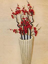 mousse de simulation fleur de prunier sèche, le plastique et la soie. ensemble de deux.