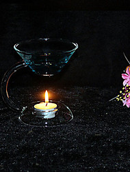 Heat-Resisting Handworked Glass Candleholder