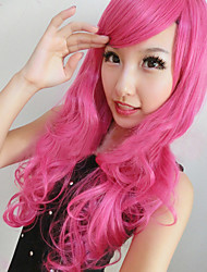 New Harajuku Anime Red Rose Long Hair Wig