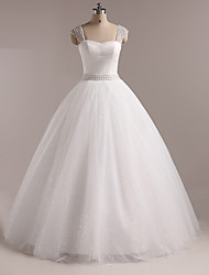 Ball Gown Wedding Dress Floor-length Straps Tulle