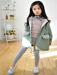 Leggings Chica deUn Color-Mezcla de Algodón-Verano / Primavera-Negro / Azul / Verde / Rosa / Blanco / Amarillo / Gris