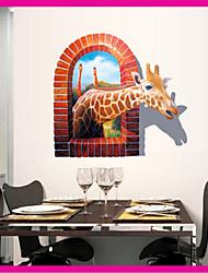 3d pvc giraffa della parete del PVC