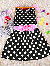 Kid's Beach/Casual/Print/Cute/Party Dress (Cotton)