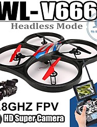 WLtoys V666 4CH 5.8G FPV RC Drone Quadcopter RTF with  Built-in Camera and Real-Time Transmission
