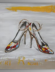 Oil Painting Modern Abstract Shoe Hand Painted Canvas with Stretched Frame