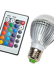 E27 110V 16 Colors Changing 9W magic  RGB LED Lamp Light Bulb + IR Remote Control