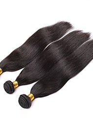 Brazilian Virgin Hair Natural colour 3Pcs 16Inch Straight Hair Weaving 100% Human Hair