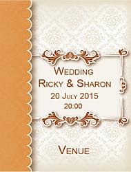 Personalized Wedding Invitations Decorate Art Pattern Save The Date Paper Card 15cm x 12.5cm 50pcs/Set