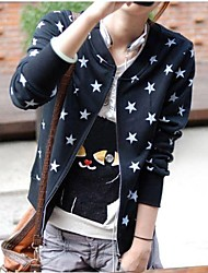 Women's Black/Gray Jackets , Casual Long Sleeve