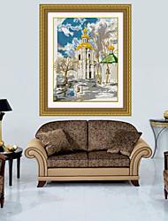 cristal architettura accurata stampa punto croce di diamanti punto croce muro cucito decorazione domestica 51 * 62 centimetri