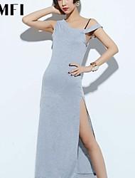 Women's Gray Dress , Work Sleeveless