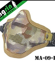 MA-09  Military tactical V1 Strike Steel Half Face Mask  Hard Face Airsoft China Mask