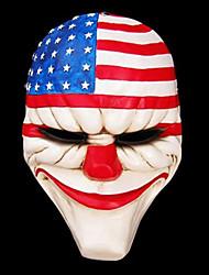 salaire 2 dallas masque de résine pour la fête de Halloween (1 pc)