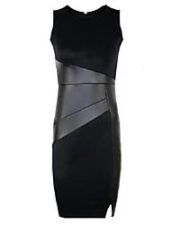 Платье - До колен - Полиэстер - Обтягивающий силуэт - Без подкладки