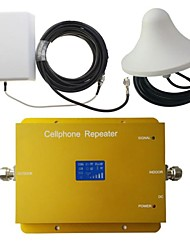 New LCD Display GSM900MHz WCDMA2100MHz Dual Band Phone Signal Booster Repeater with Panel and Ceiling Antenna