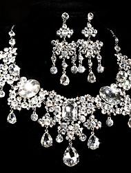 Ladies' Alloy Rhinestone Wedding Jewelry Set