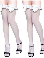 Dance Accessories White Ruffles Bowknot Stockings