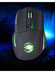 THE SPOTLIGHT LEOPARD  Wired USB Laser Gaming Mouse w/ Green LED Light
