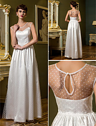 Lanting Sheath/Column Wedding Dress - Ivory Floor-length Scoop Tulle