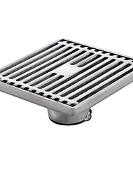 Stainless Steel Square Shower Floor Drain with Removable Strainer, V331