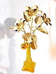 "12 ""h hibiscus golden syriacus flores no vaso"