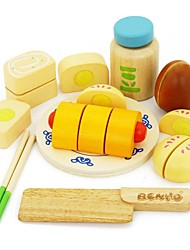 BENHO Rubber Wood Chinese Food Set Wooden Role Playing Toy
