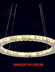 LED Crystal Pendant Lights Lighting Lamps Modern Fixtures Amber K9 Crystal Round Single Ring 40CM
