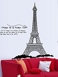 sticker mural PVC amovible eiffel environnement