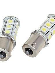 2pcs DC 12V 18 LED 5050 18 SMD LED 1156/1157 BA15S BAY15D White Car Bulb Stop Tail Brake Light Rear Lamp