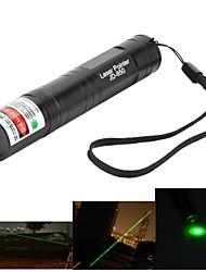 Marsing alta potencia muliti función 850 5mW 532nm pluma verde del laser linterna - negro