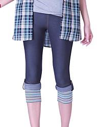 Women's Blue Skinny Pants , Bodycon/Casual/Plus Sizes