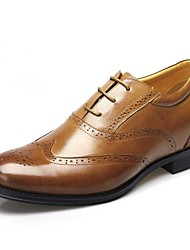 Men's Shoes Office & Career Calf Hair Oxfords Height Increasing Shoes